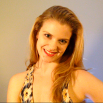 Actor Becca Ballenger in a recent video audition, performing a monologue.