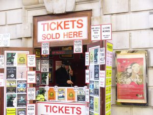 Theatre ticket booth on the northern side of Covent Garden market. © Copyright Colin Smith