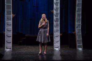Becca Ballenger soliloquizing in A MIDSUMMER NIGHT'S DREAM