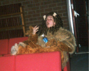 Here I am in high school playing the Cowardly Lion. Basically I am Meryl Streep here. Notice my dedication to the craft…and delicate lady/lion hands.