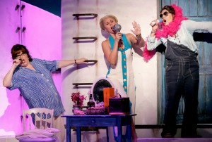 Mamma Mia! Second National Tour 2006. (L to R) Laura Ware, Lisa Mandel, Laurie Wells. Photo credit: Joan Marcus.