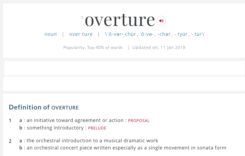 Definition for overture