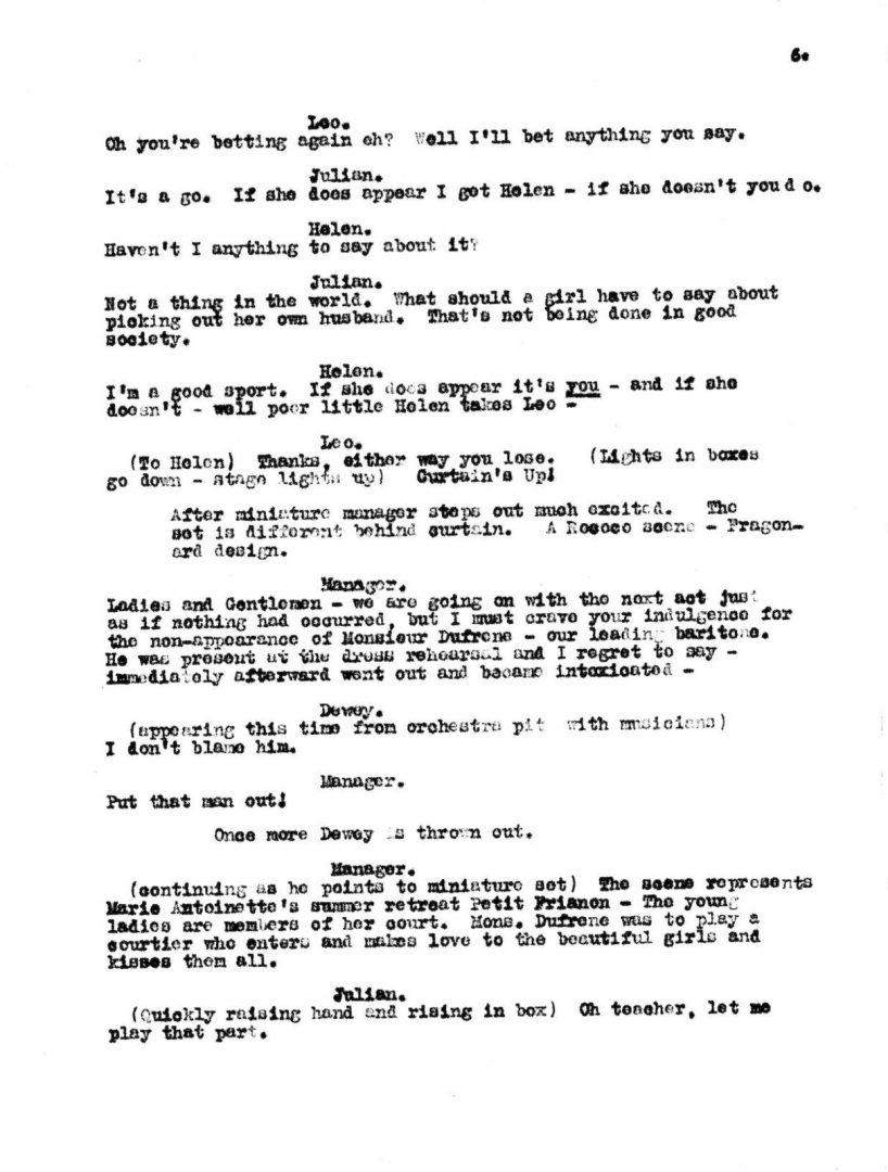Scene script